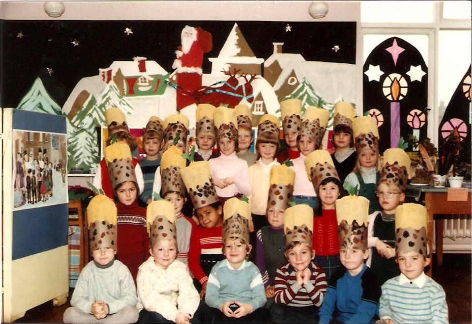 Christmas pudding hats.
