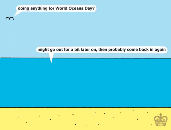 Modern Toss - world oceans day