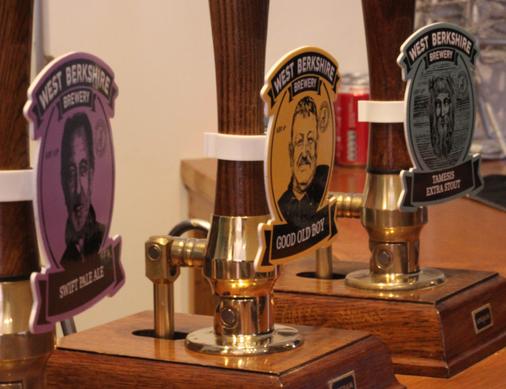 Beers at the West Berks. brewery: