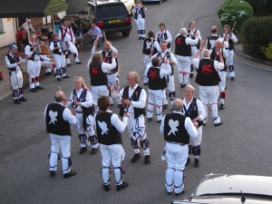 Cry Havoc and Towersey Morris with a massed Constant Billy at the Railway Inn, Culham.