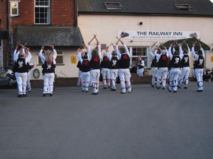 Finishing Constant Billy with Towersey Morris at the Railway Inn, Culham