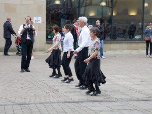 Clogarhythm in Millennium Place, Durham.