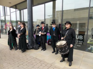 Jet Set Border Morris at Millennium Place, Durham.