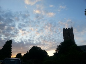 Sunset over Swalcliffe Church.