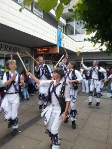 Dancing 'Young Collins' at the Botley Westway Festival.