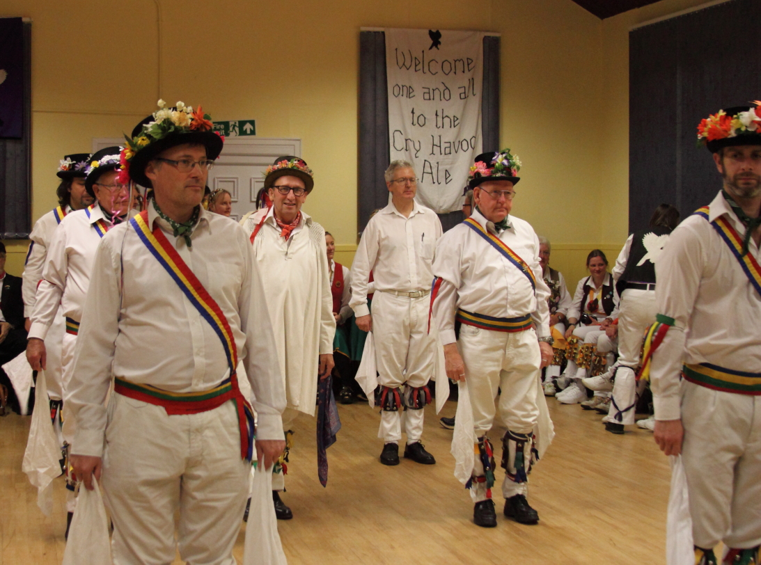 Mr. Hemmings' traditional morris men forming up.