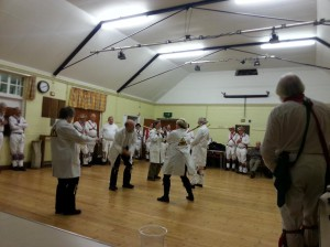Lepton Morris testing stick resilience at the Oxford City Ale 2015.