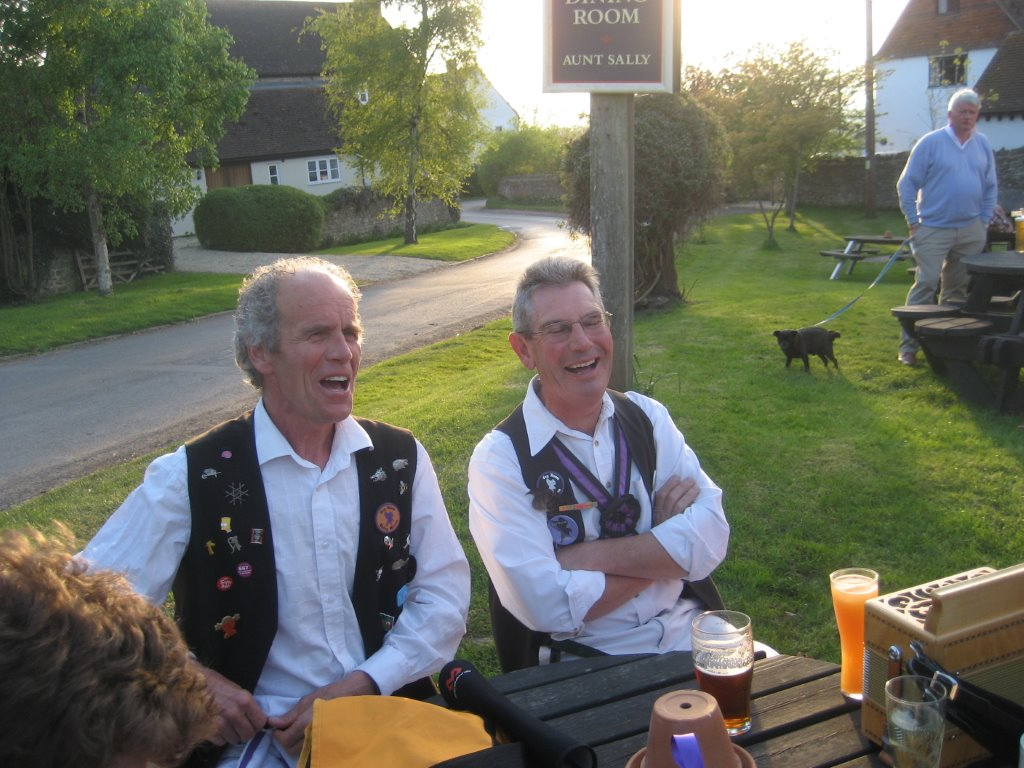 Nigel and John at the Eight Bells, Eaton