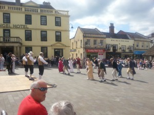 Regency Rejigged at the Chippenham Folk Festival.