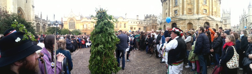 A May Morning panorama by the Radcliffe Camera.