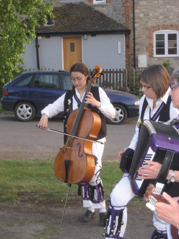 A 'cello in the morris band!