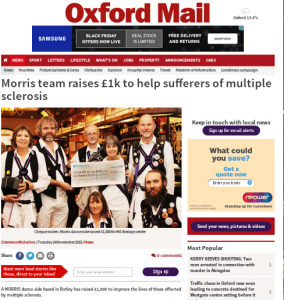 Oxford Mail article