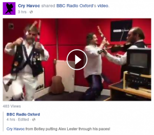 Teaching BBC Radio Oxford's Alex Lester a dance.